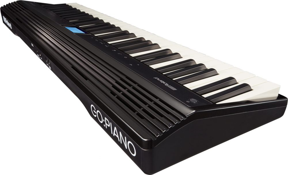 go piano rear side view